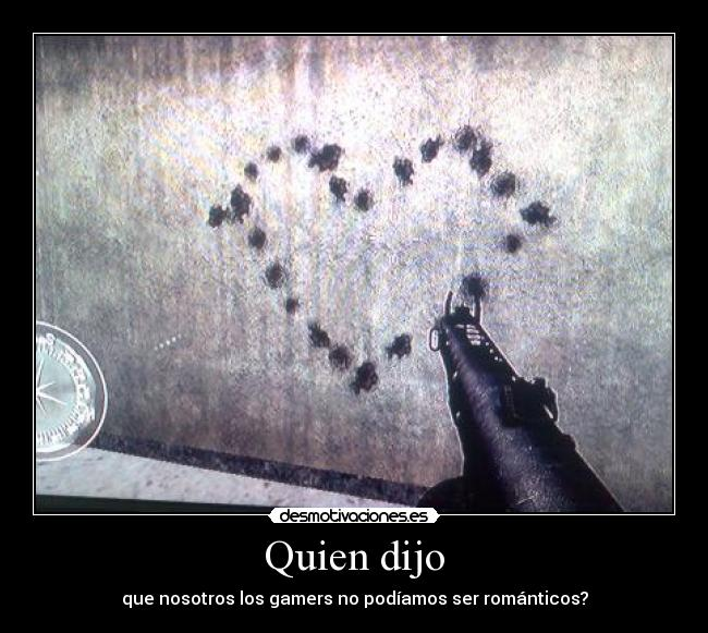 carteles corazon gamer call duty arte con disparos desmotivaciones