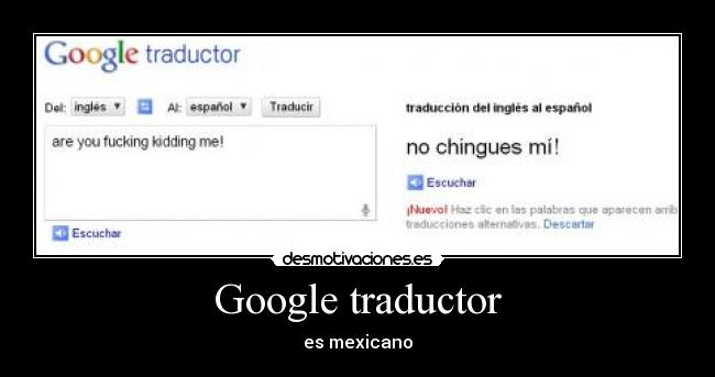 Google traductor - es mexicano