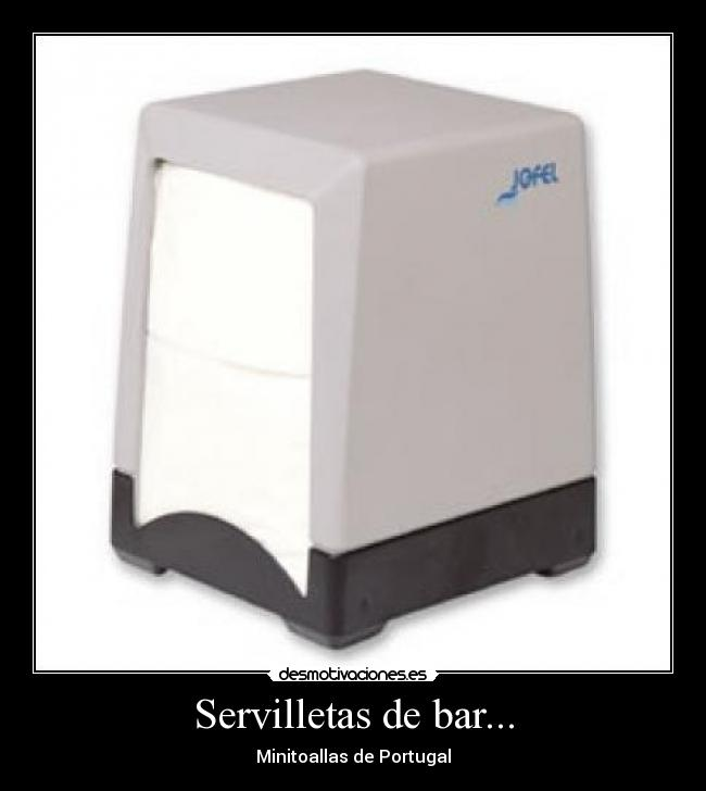 Servilletas de bar... - Minitoallas de Portugal