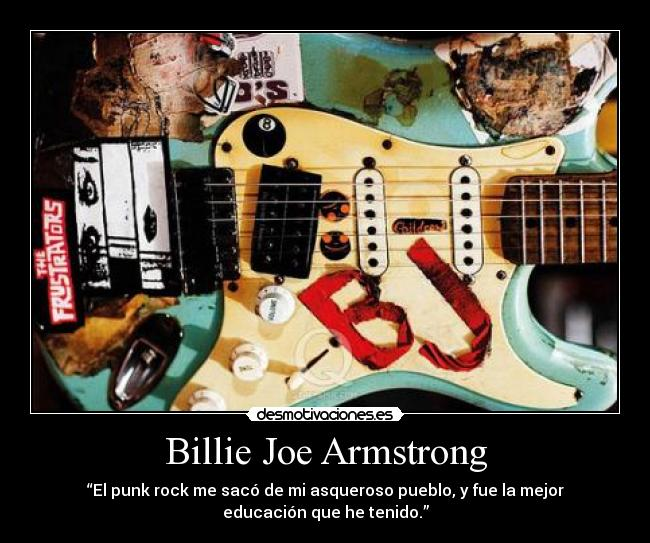 carteles billie joe armstrong green day punk rock desmotivaciones