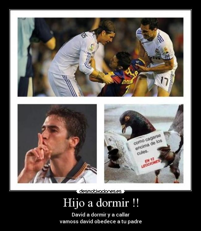 carteles dormir futbol diversion madrid desmotivaciones