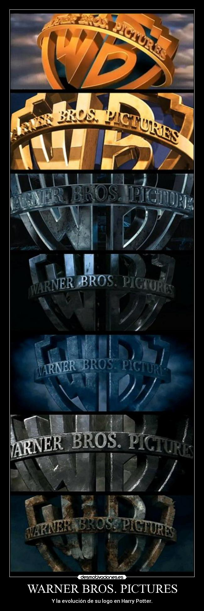 WARNER BROS. PICTURES - Y la evolución de su logo en Harry Potter.