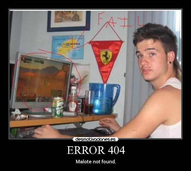 ERROR 404 - Malote not found.