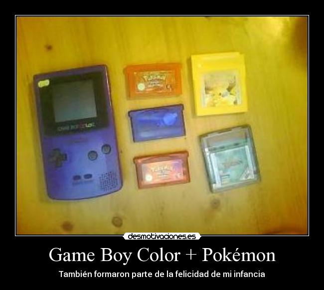 carteles pokemon gameboycolorpokemoncartuchocosassencillas desmotivaciones