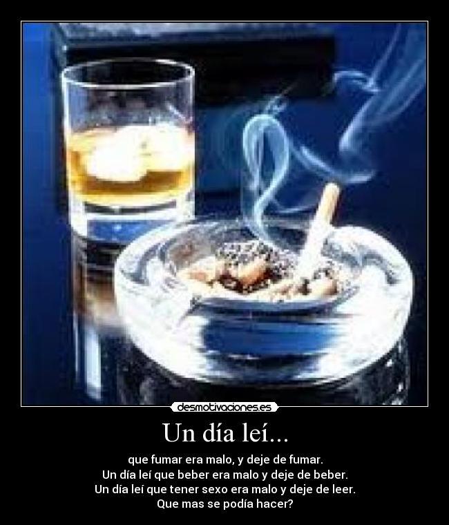 Un día leí carteles dia leer lectura libro fumar cigarro tabaco alcohol
