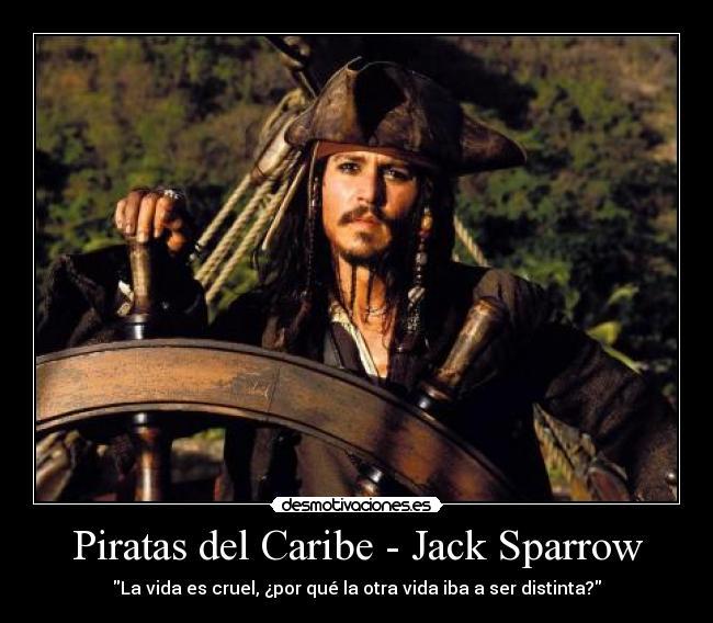 Piratas Del Caribe Jack Sparrow Desmotivaciones