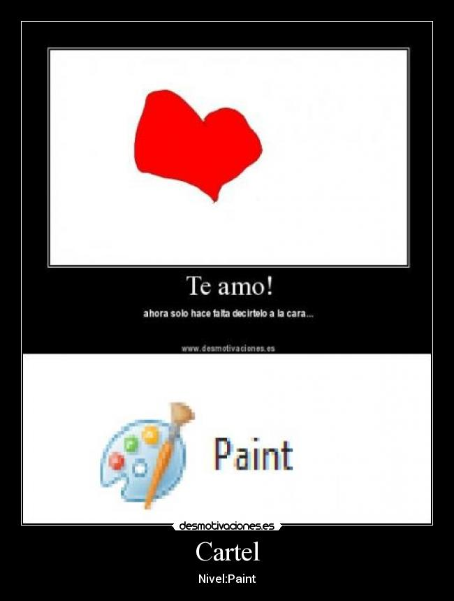 Cartel - Nivel:Paint