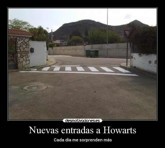 carteles harry potter howarts entradas desmotivaciones