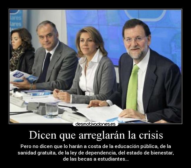 carteles pp partido popular rajoy cospedal santamaria mas politica politico crisis desmotivaciones