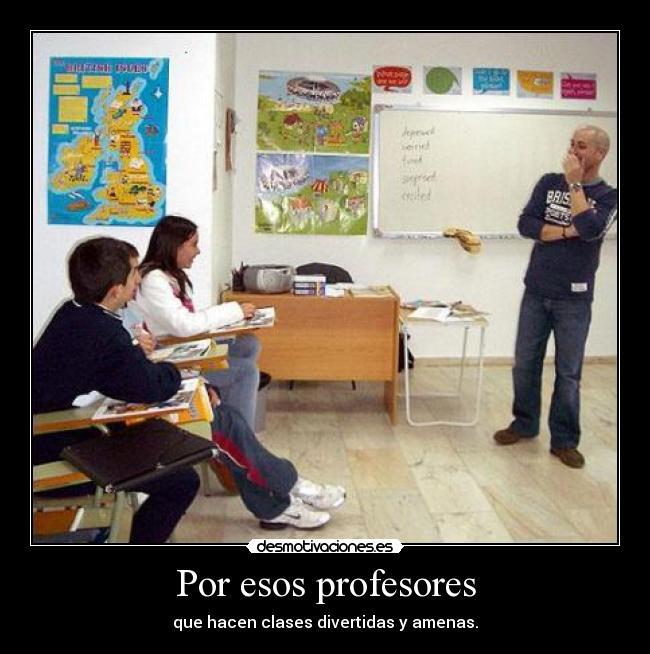 carteles profesores clases divertidas amenas desmotivaciones