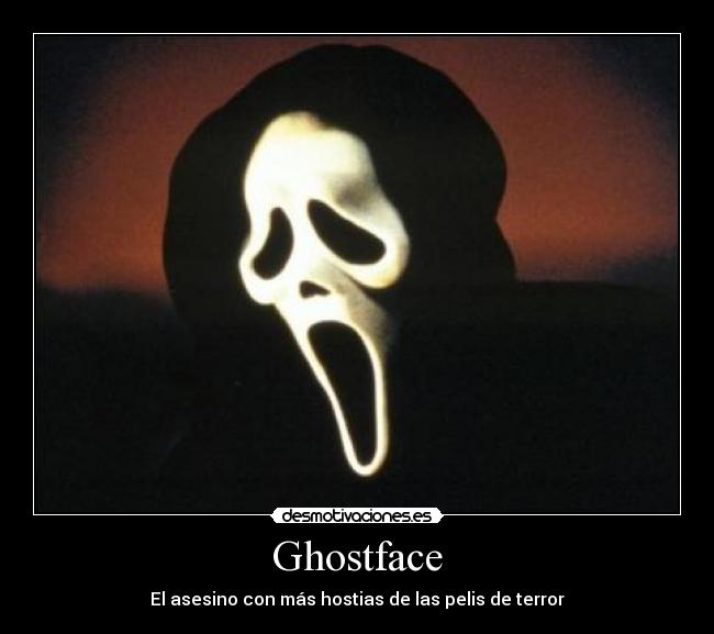 carteles ghostface scream terror pelicula desmotivaciones