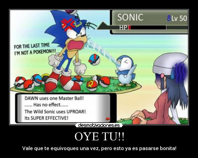 carteles sonic the hedgehog pokemon piplup dawn maya desmotivaciones