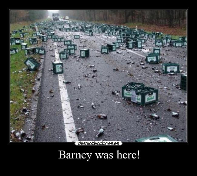 Barney was here! -