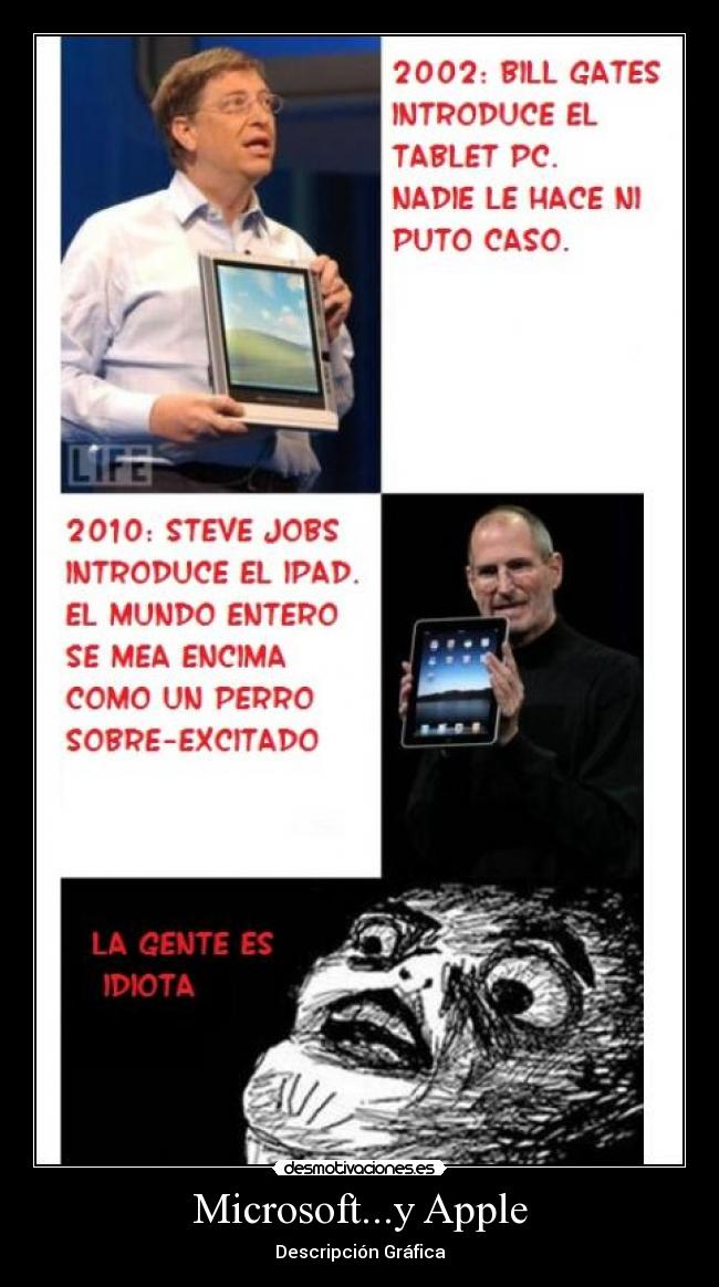 carteles microsoft apple pc ipad iphone xbox windows idiotas desmotivaciones