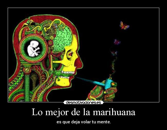 carteles marihuana mente imaginacion volar desmotivaciones