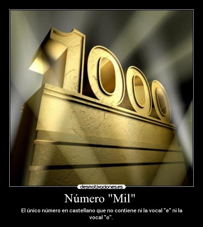 Resultado de imagen de Número mil