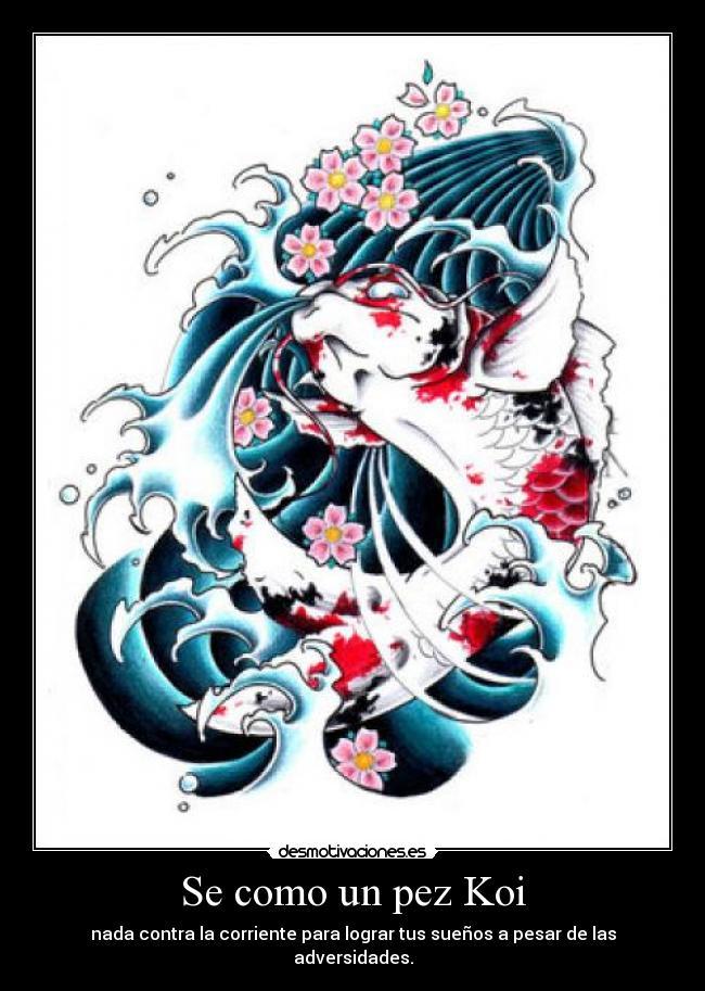 Se como un pez Koi | Desmotivaciones