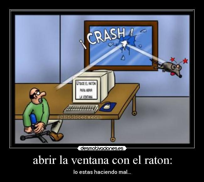 abrir la ventana con el raton: - lo estas haciendo mal...