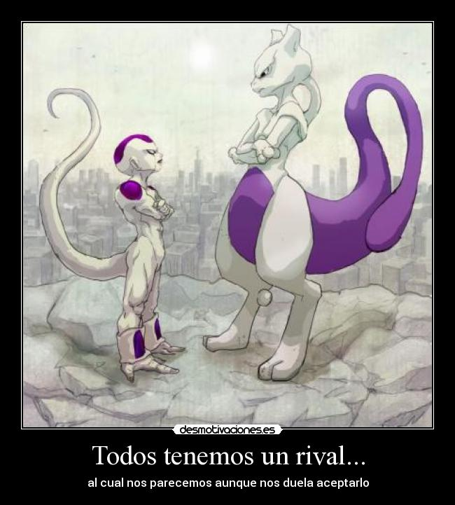 carteles mewtwo pokemon dragon ball freezer rival desmotivaciones