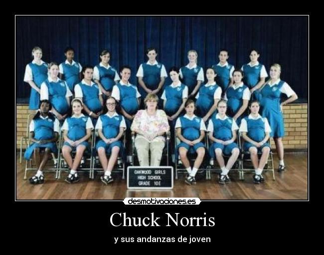 carteles chuck norris embarazo escuela mujeres desmotivaciones