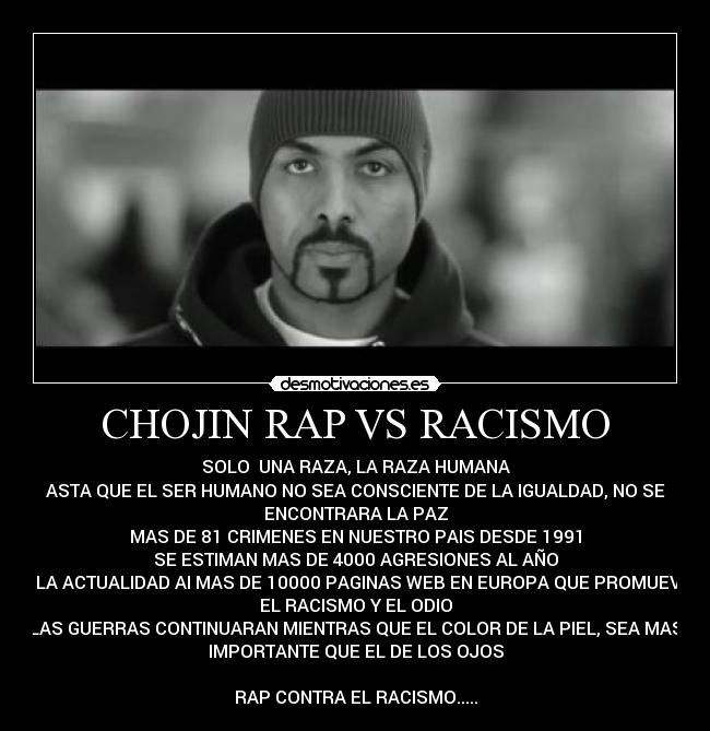 el chojin rap vs racismo