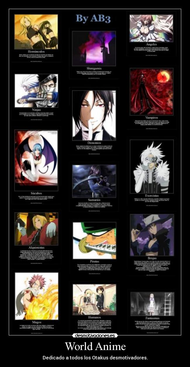 carteles anime anime mundo naruto one piece fairy tail desmotivaciones