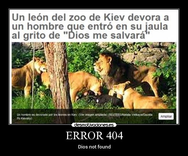 ERROR 404 - Dios not found
