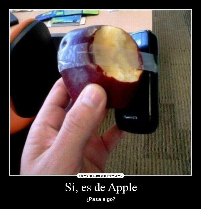 Sí, es de Apple - ¿Pasa algo?