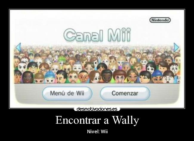 Encontrar a Wally - Nivel: Wii