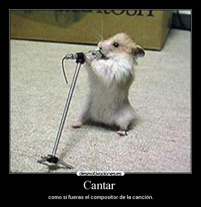 carteles cantar cancion compositor musica desmotivaciones