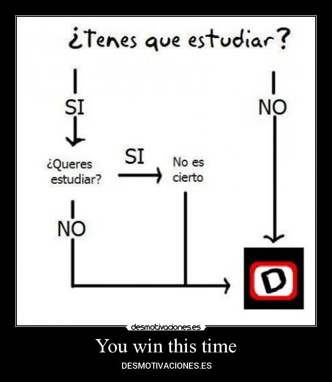 You win this time - DESMOTIVACIONES.ES