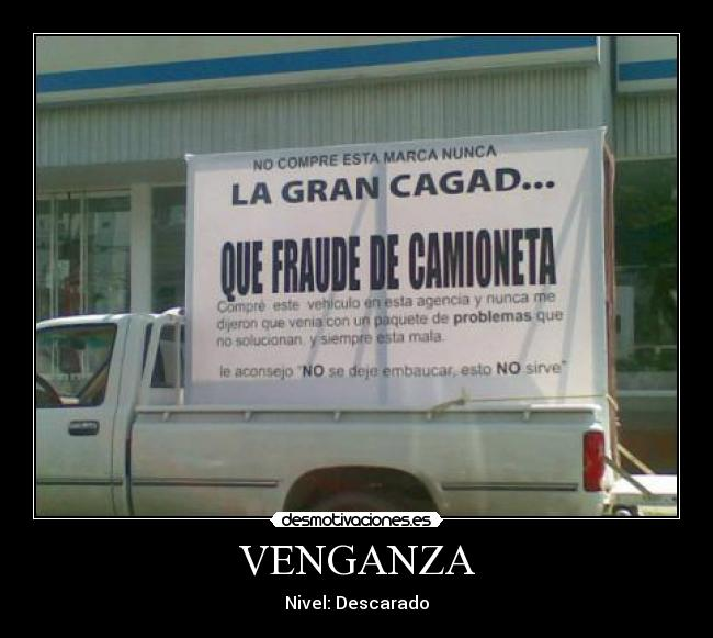 VENGANZA - Nivel: Descarado
