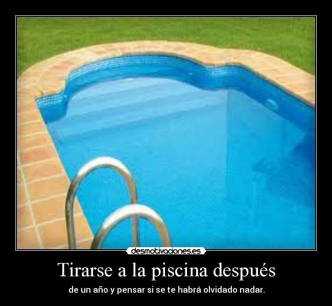 Usuario max m desmotivaciones for Tirarse a la piscina