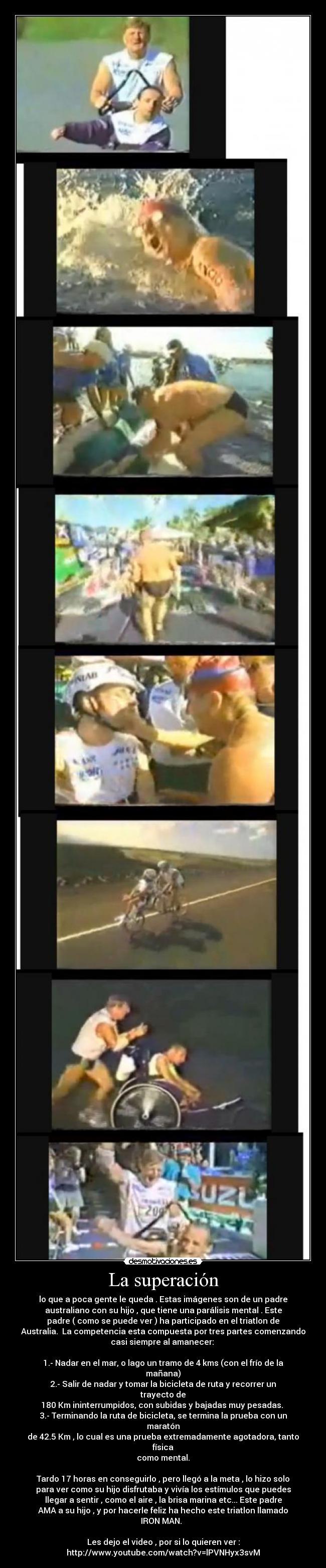 carteles padre amor triatlon australia hijo mentalidad fuerza superacion desmotivaciones