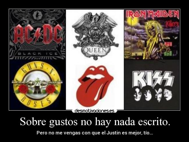 carteles musica rock metal pop comparar desmotivaciones