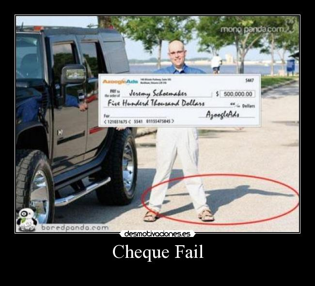 Cheque Fail -