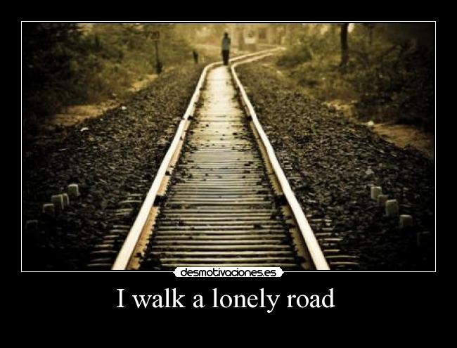 carteles walk lonely road the only one that have ever known dont know where goes but its home desmotivaciones