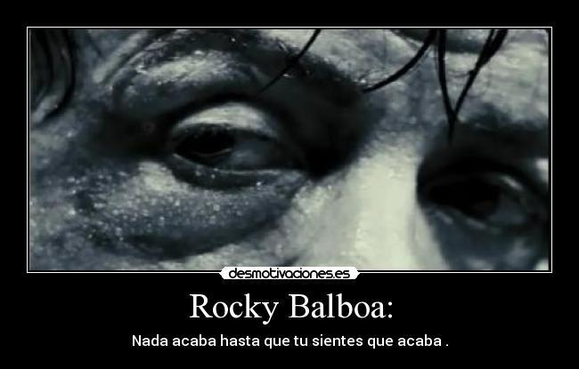 Rocky Balboa Desmotivaciones
