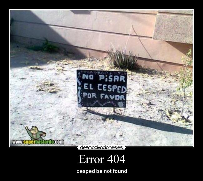 Error 404 - cesped be not found