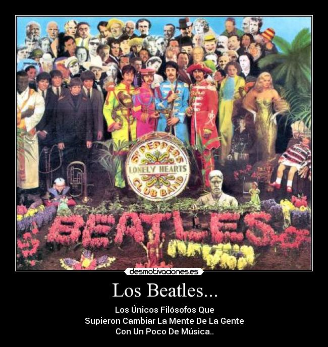 carteles beatles musica sgt peppers lonely hearts club band desmotivaciones