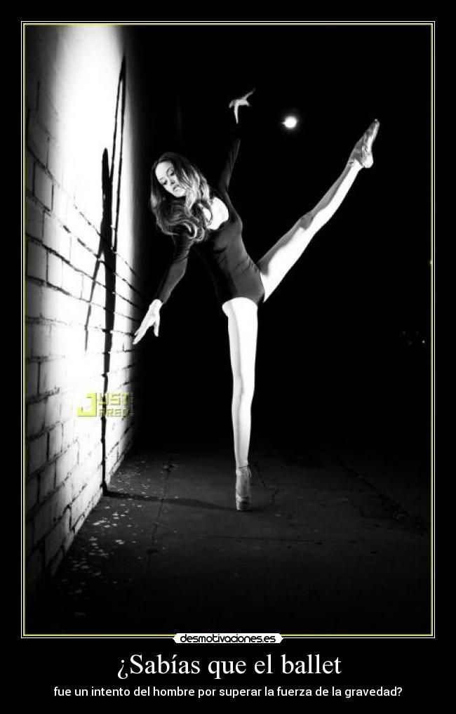 carteles ballet hombre superar gravedad desmotivaciones