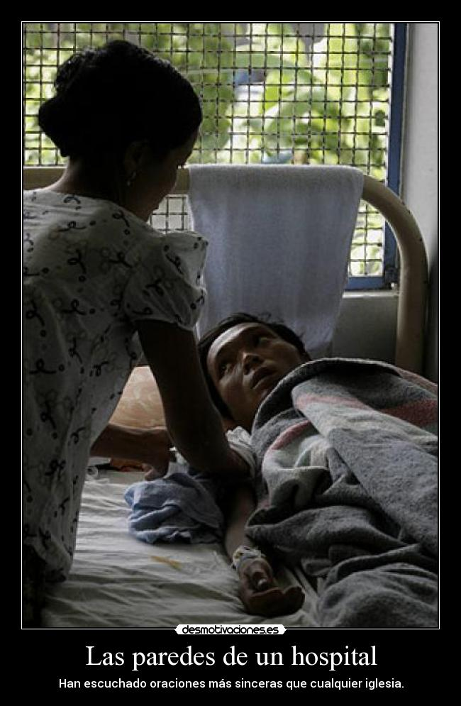 carteles hospital iglesia dios paciente desmotivaciones