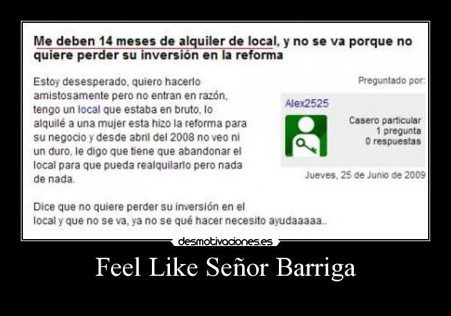 Feel Like Señor Barriga -