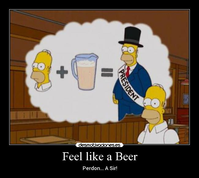 Feel like a Beer - Perdon... A Sir!