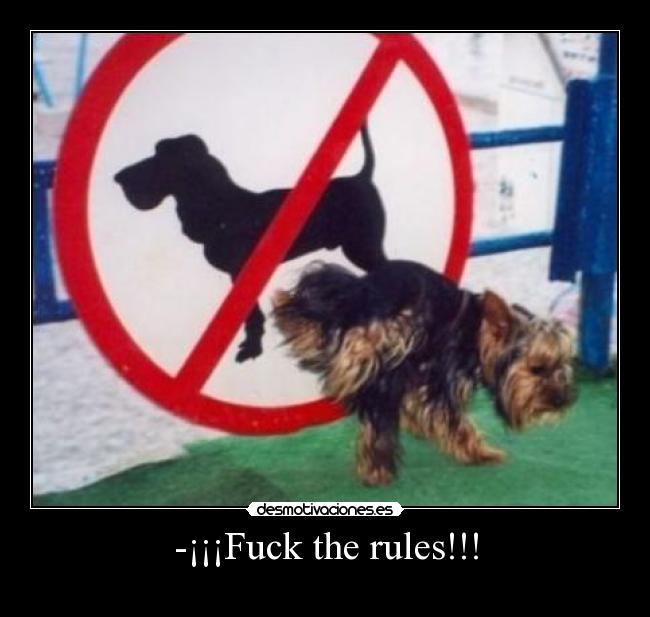 -¡¡¡Fuck the rules!!! -