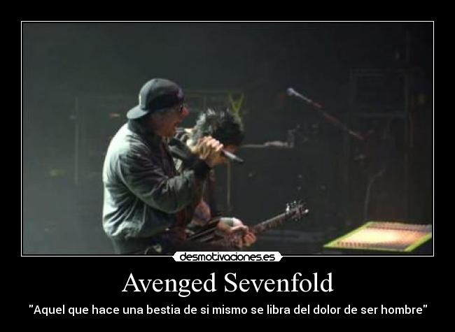 carteles avenged sevenfold metal the rev matt shadows synyster gates zacky vengeance blinded chains nightm desmotivaciones