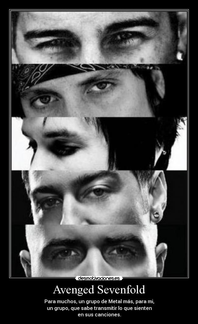 carteles avenged sevenfold the rev zacky vengeance shadows johnny christ synyster gates desmotivaciones