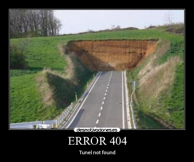 ERROR 404 - Tunel not found