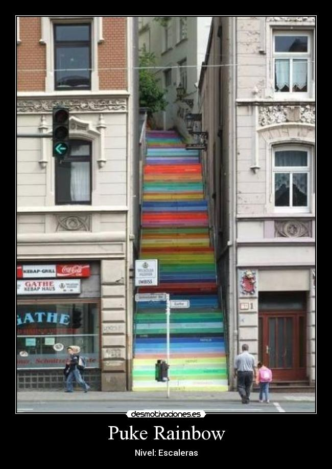 Puke Rainbow - Nivel: Escaleras