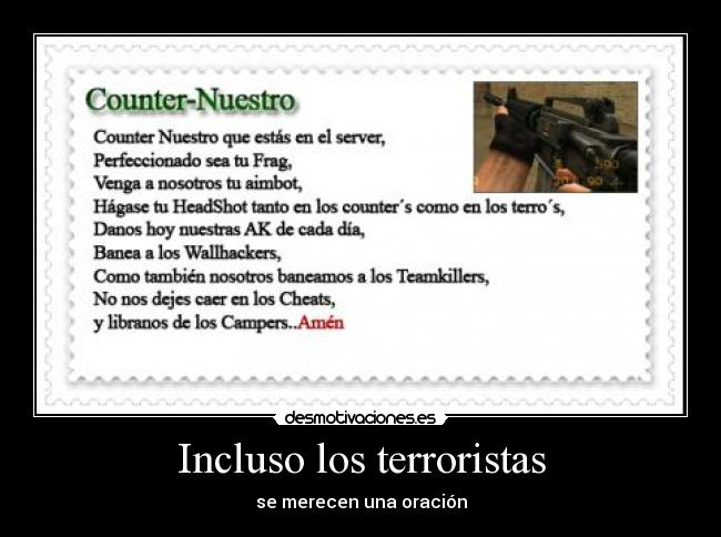 carteles counter strike lema oracion desmotivaciones